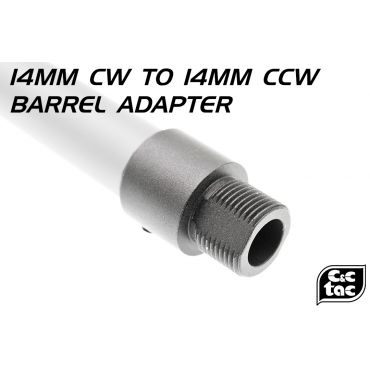 C&C 14mm CW to 14mm CCW Thread Barrel Adapter ( 6061-T6 Aluminum )