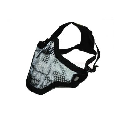 CM01 Strike Steel Half Face Mask Dual Belt Ver. ( Skull Black )