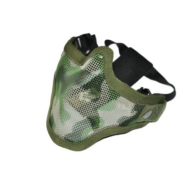 CM01 Strike Steel Half Face Mask Dual Belt Ver. ( Jungle Camouflage )