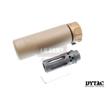 DYTAC SOCOM Mini 1 Silencer w/ WARCOMP-556 Flash Hider (Dark Earth)