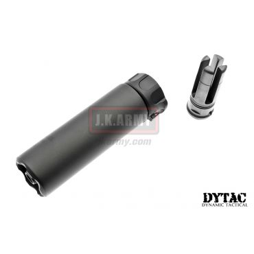 "DYTAC SOCOM Mini 2 Dummy Silencer with 4P Flash Hider ( 14CCW ) Short 5"" ( Cerakote Coated Black )"