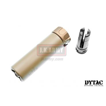 "DYTAC SOCOM Mini 2 Dummy Silencer with 4P Flash Hider ( 14CCW ) Short 5"" ( Cerakote Coated Dark Earth )"