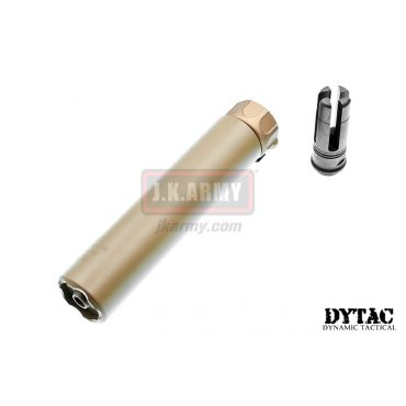 DYTAC SOCOM RC 2 Dummy Silencer with 4P Flash Hider ( 14CCW ) ( Cerakote Coated Dark Earth )