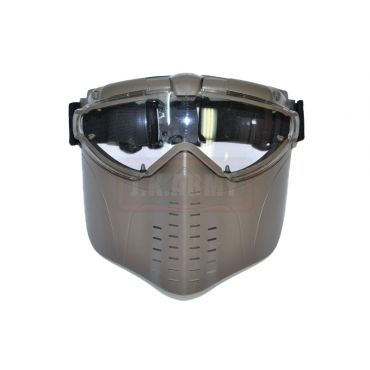 Electric Full Face Goggle Mask with Fan ( Tan )
