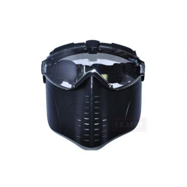 Electric Full Face Goggle Mask with Fan ( BK )