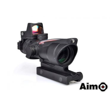 AIM ACO 4X32C Red Dot Illumination Source Fiber With RMR Sight ( BK