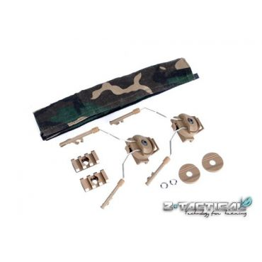 Z-Tactical HELMET RAIL ADAPTER SET ( Z 046 ) ( Tan )