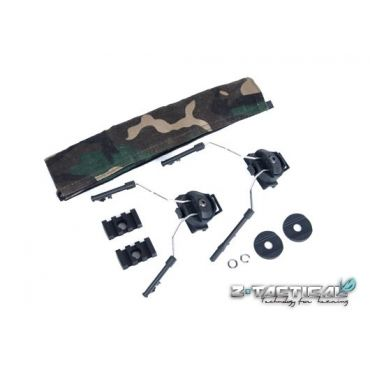 Z-Tactical HELMET RAIL ADAPTER SET ( Z 046 ) ( BK )