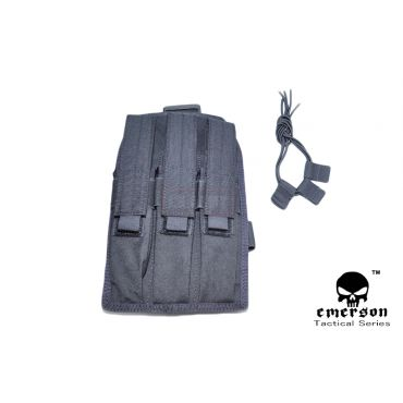 EMERSON MP7 Triple MAG Drop Leg Pouch ( Black )
