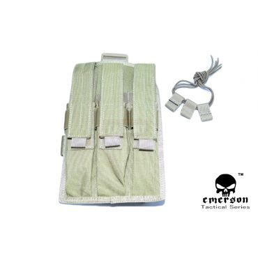 EMERSON MP7 Triple MAG Drop Leg Pouch ( Khaki )