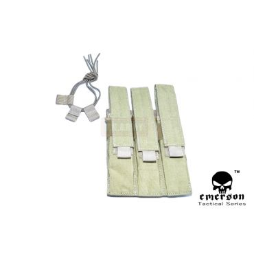 EMERSON MP7 Triple MAG MOLLE Pouch ( Khaki )