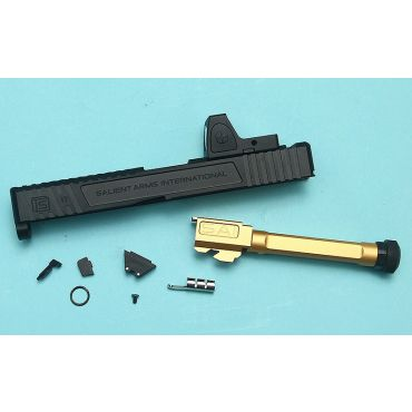 EMG SAI TIER ONE Upgrade Slide Set with RMR Sight (RMR Cut) for TM Model 17 ( Black )