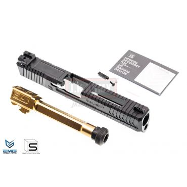 EMG SAI BLU Upgrade Steel Slide w/ Gold Barrel Kit for EMG BLU GBB Pistol ( BK ) ( G&P ) ( Model 17 )