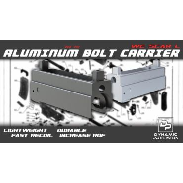 Dynamic Precision Aluminum Bolt Carrier for WE SCAR-L ( BK )
