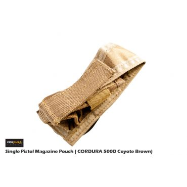 FFI CP Style Single Pistol Magazine Pouch ( CORDURA 500D Coyote Brown)
