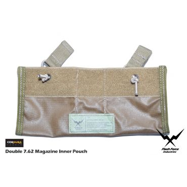 FFI Double 7.62 Magazine Inner Pouch for 6094 Plate Carrier ( CORDURA 500D CB )
