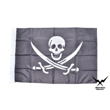 Navy Jolly Roger Flag ( Size:No.4 )