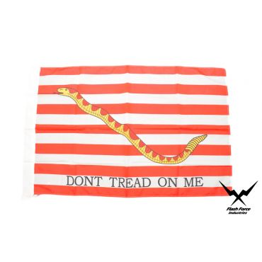 Navy Jack ( Dont Tread On Me ) ( Red ) Flag ( Size:No.5 )