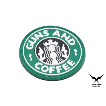 FFI Soft PVC Patch - Guns and Coffee ( Free Shipping )
