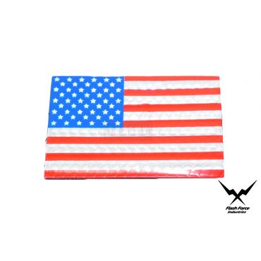 FFI PVC Reflective Patch - USA Flag ( Full Color ) ( Star in the left ) ( Free Shipping )