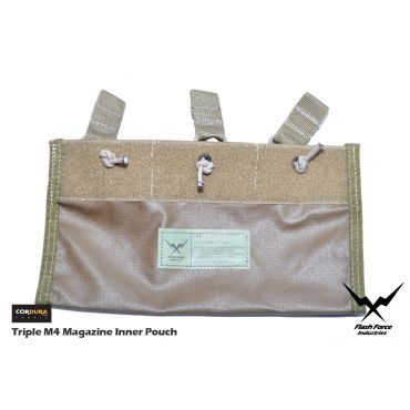FFI Triple M4 Magazine Inner Pouch for 6094 Plate Carrier ( CORDURA 500D CB )