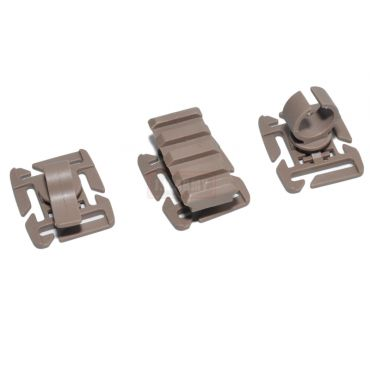 FMA 3 Type For 25mm MOLLE Webbing ( DE )