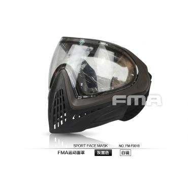 FMA F1 Paintball Airsoft Safety Anti-fog Goggle ( Full Face Mask ) ( BK Type A )