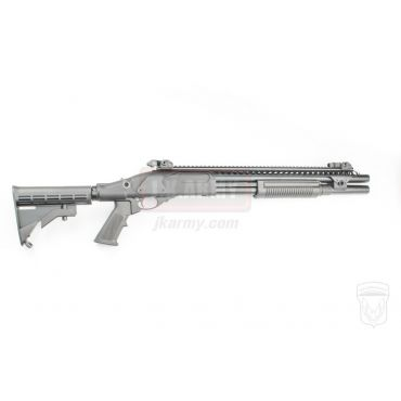 Golden Eagle M870 AR Tactical Tri-Shot Gas Pump Action Shotgun ( Black )
