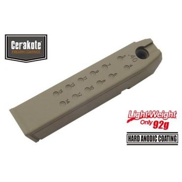 Guarder Aluminum Magazine Case for MARUI Model 17/18C/22/34 (.40 /Cerakote FDE)