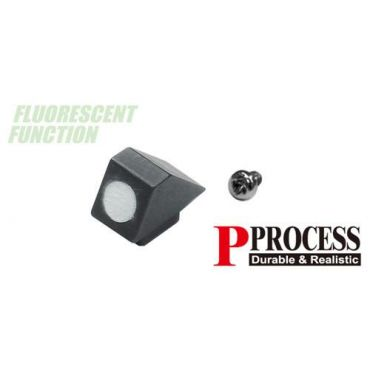 Guarder Steel Standard Night Front Sight for Marui G Model (White)