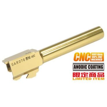 Guarder Aluminum CNC Titanium Golden Outer Barrel for Marui G17
