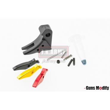 Guns Modify 6061Aluminum Trigger For TM Glock Series STD Style ( Black )