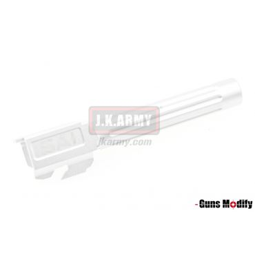 Guns Modify SA-KKM Aluminum barrel - fluted For TM G17 ( Silver )