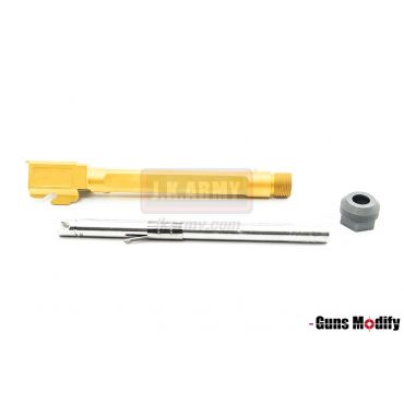 Guns Modify SA Style KKM G34 Stainless Threaded Outer Barrel Set For TM Model 3.4 (Fluted, Gold)