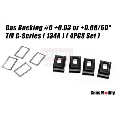 "Guns Modify Magazine Gas Bucking #0 +0.03 or +0.08/60"" TM G-Series ( 134A ) ( 4pcs Set )"
