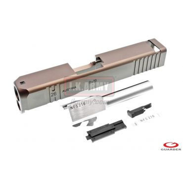 Guarder Model 26 CNC Aluminum Slide & Stainless Barrel Kit for TM Model 26 Custom ( Tan ) ( Limited Item )