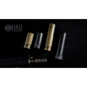 HAO's 556RC MK2 CERAKOTED Dummy Silencer Can for Airsoft ( Type Lightweight )