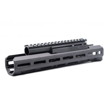 Hephaestus AK M-LOK 10.5 Inch Handguard Rail Set with Railed Gas Tube ( Type III Hard-Coat Anodized ) for GHK / LCT AK Series