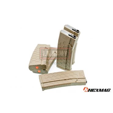 Hexmag Airsoft 120rd Magazine for AEG ( 5 Pcs Pack - FDE )