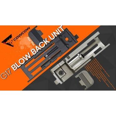 COW Aluminum Blow Back Unit for TM Model 17 ( Black / Silver )