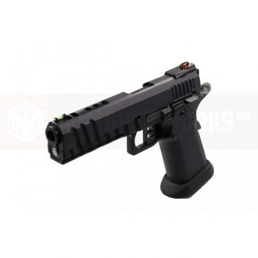 AW Custom™ HX2033 'Black Ace' Hi-Capa GBB Airsoft Pistol ( All Black )