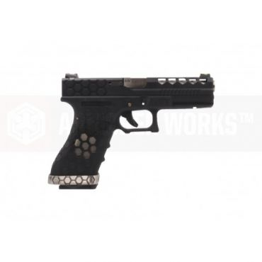 AW VX0201 Hex Cut Signature 1.8 GBB Airsoft Pistol ( BK )