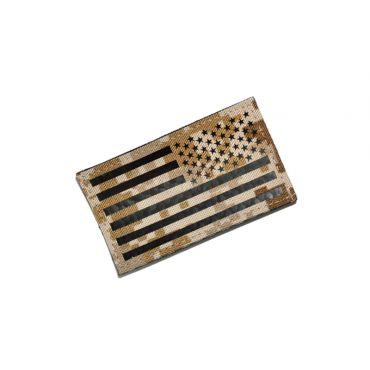 Infrared Reflective Patch - USA Flag ( Reverse ) ( AOR1 ) ( Free Shipping )