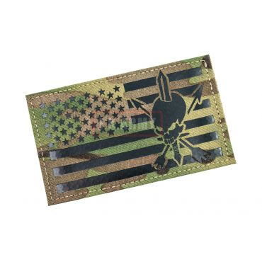 """Infrared Reflective Patch - NOUS DEFIONS US Flag Forward 3"""" x 5"""" ( Multicam )"""