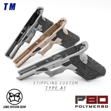 JDG Polymer80 Licensed P80 PF940V2 Airsoft Frame Stippling Custom Ver. for Model 17 Gen3 ( TM / WE ) ( G17 GEN3 )