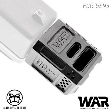 JDG WAR A10 Compensator 14mm CCW for Airsoft Glock Gen3 Model ( Licensed by WAR ) ( Black )