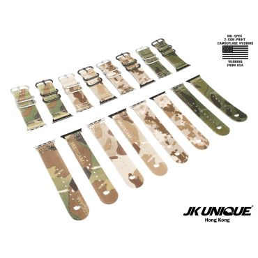 JK UNIQUE CAMO NYLON Apple Watch Strap 42mm
