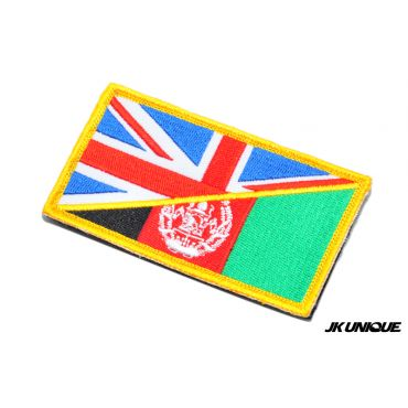 JK UNIQUE Patch - UK x Afghanistan ( Full Corlor ) ( Free Shipping )