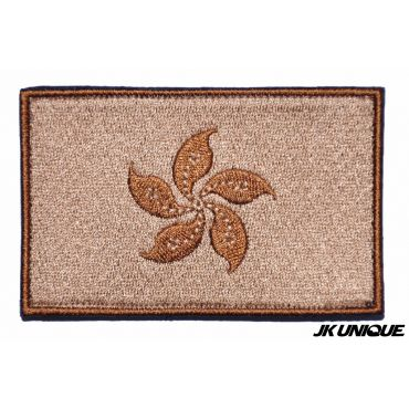 JK UNIQUE Hong Kong Flag Patch ( Tan )