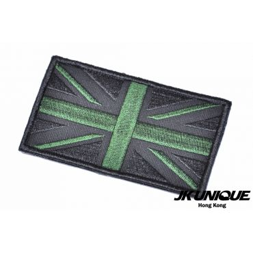 JK UNIQUE Patch - UK FLAG ( Black x Green ) ( Free Shipping )